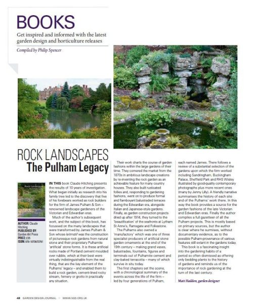 Classroom Design Journal Articles ~ Garden design journal august the pulham legacy