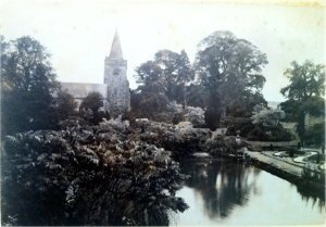 5-10-41-07 - Lamberhurst - Lake and Church c1900