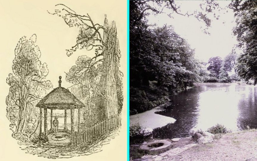 5-1-44-02 - Bromley Gardens - St Blaise's Well c1845 and 1960