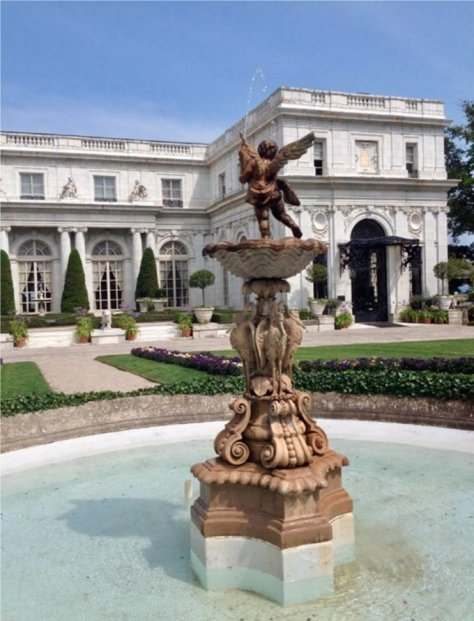 170802 - Stork Fountain at Rosecliff - Mike Parker